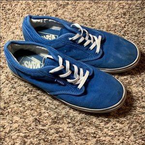 Blue Vans sneakers size 7 women's